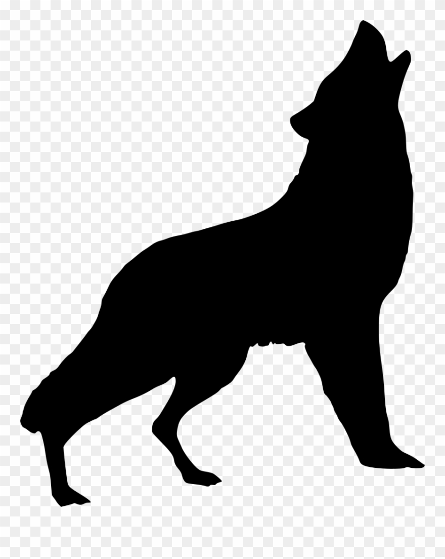Silhouette, Wolf, Howling, Art, Wild, Animal, Nature Clipart.
