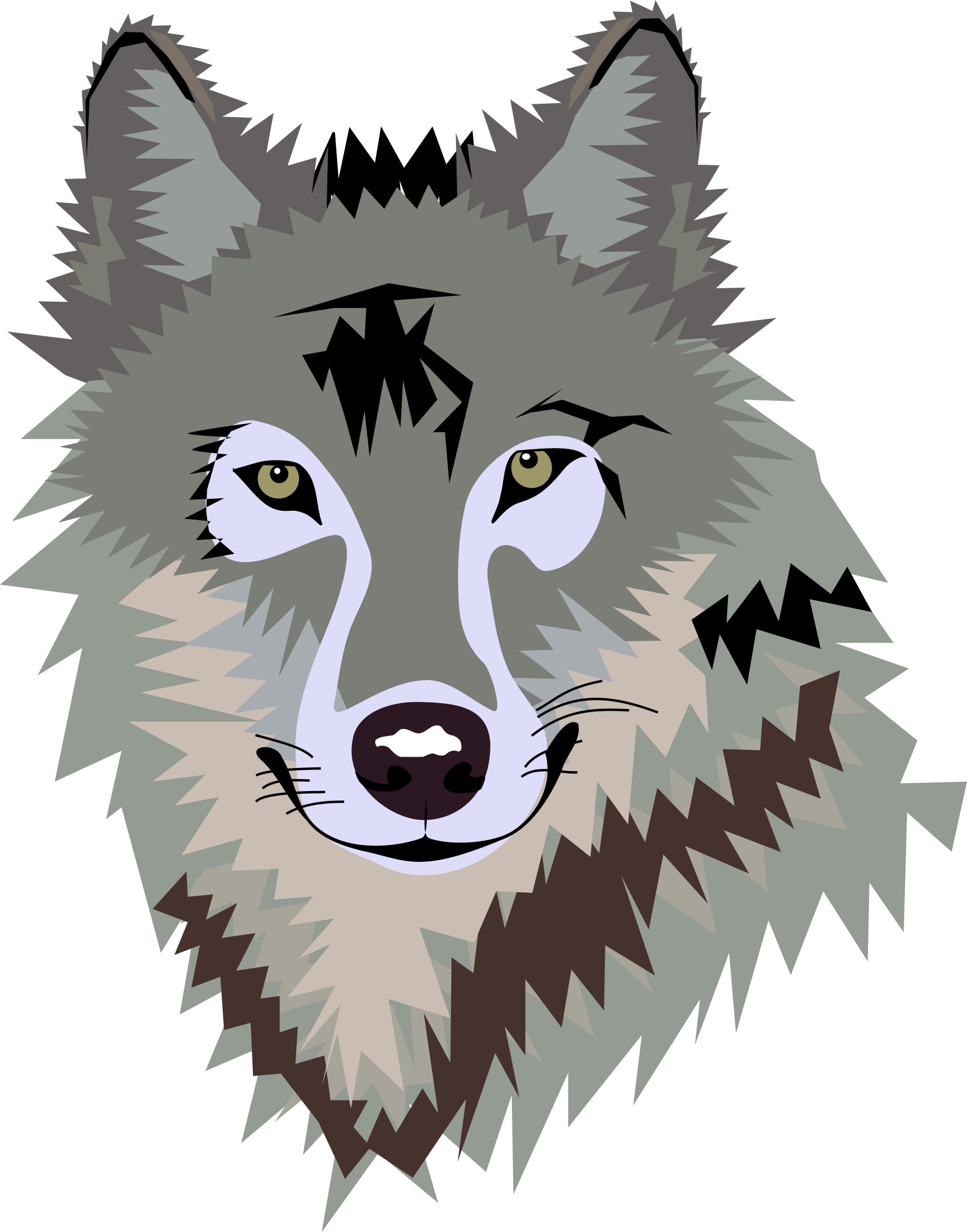 Wolf clipart face Transparent pictures on F.