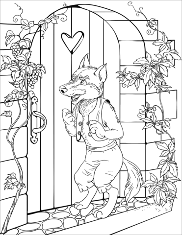 The Wolf Knocks on the Door of the Grandmother\'s House.