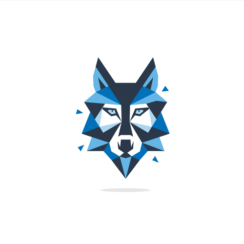 Create a mean Wolf logo.