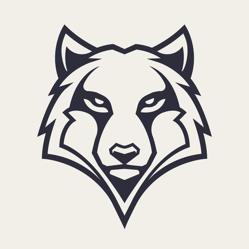 Wolf Mascot Vector Icon.