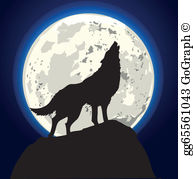 Wolf Moon Clip Art.