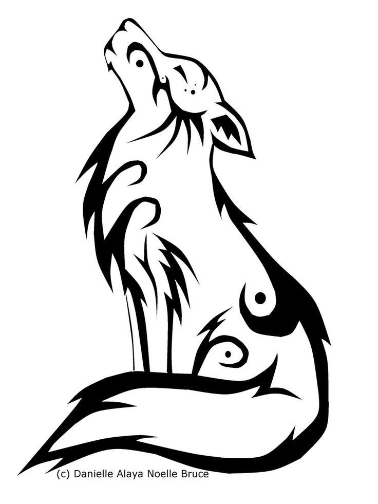 Native American Wolf Clipart.