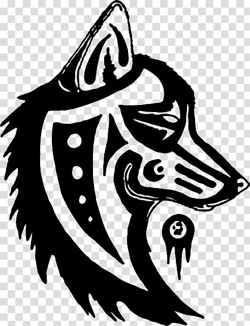 Gray wolf Totem pole Symbol Native Americans in the United.