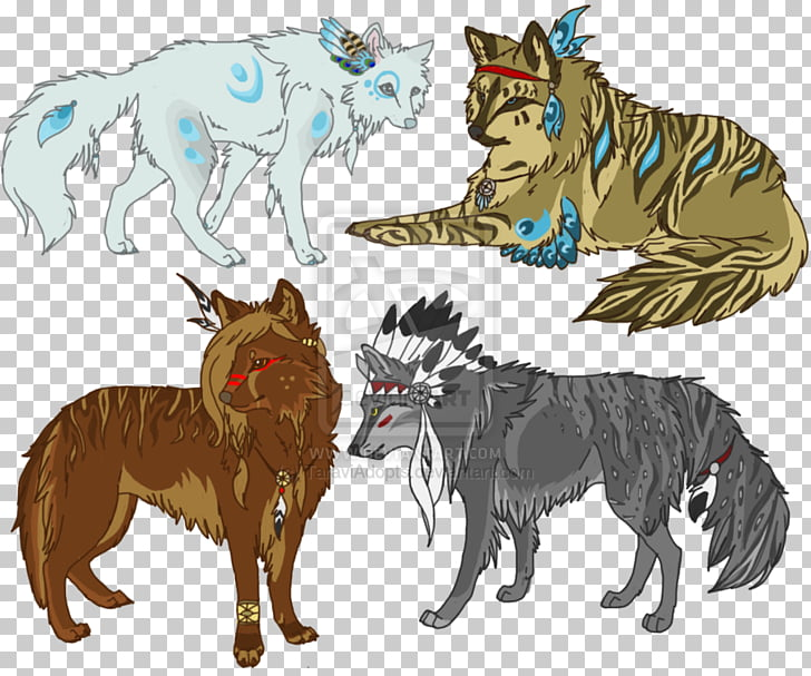 Native Americans in the United States Drawing American Wolf.