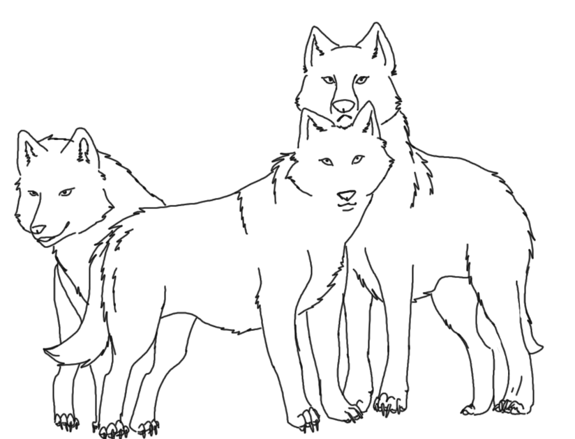 Wolf pack clipart.