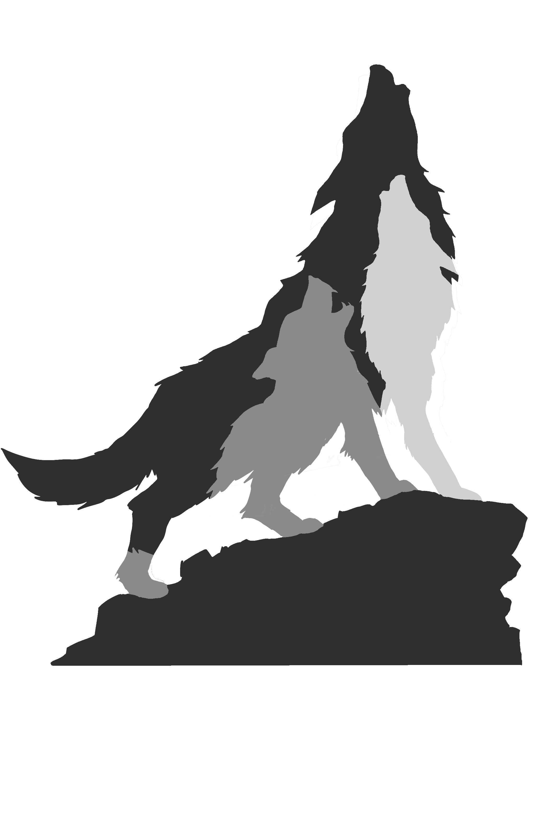 Silhouette Project Wolfpack Dog.
