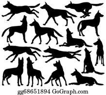 Wolf Pack Clip Art.