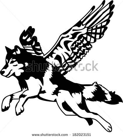 Wolf Jumping Stock Photos, Royalty.