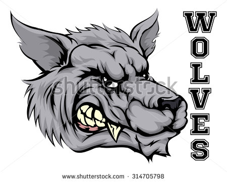 Angry Wolf Stock Photos, Royalty.