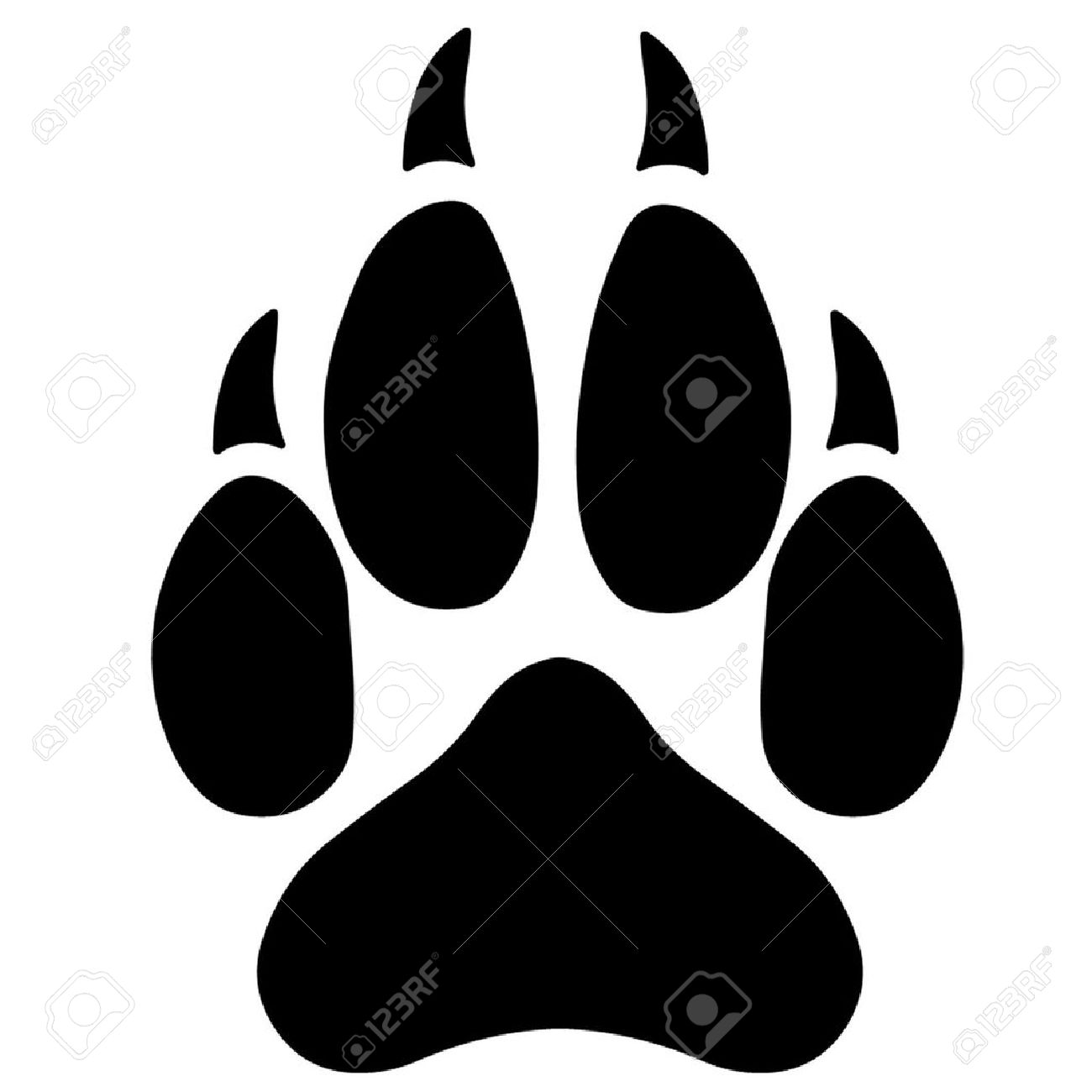 Wolf Paw Icon #71891.