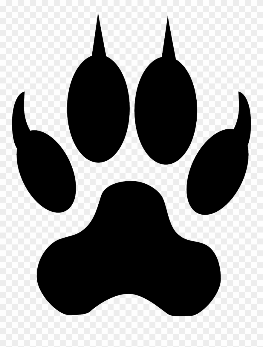 Image For Footstep Track Animal Clip Art.