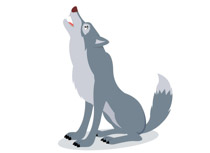 Free Wolf Clipart.