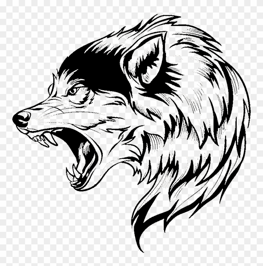 wolf #vector #vectorart #blackandwhite #graphic #ftestickers.