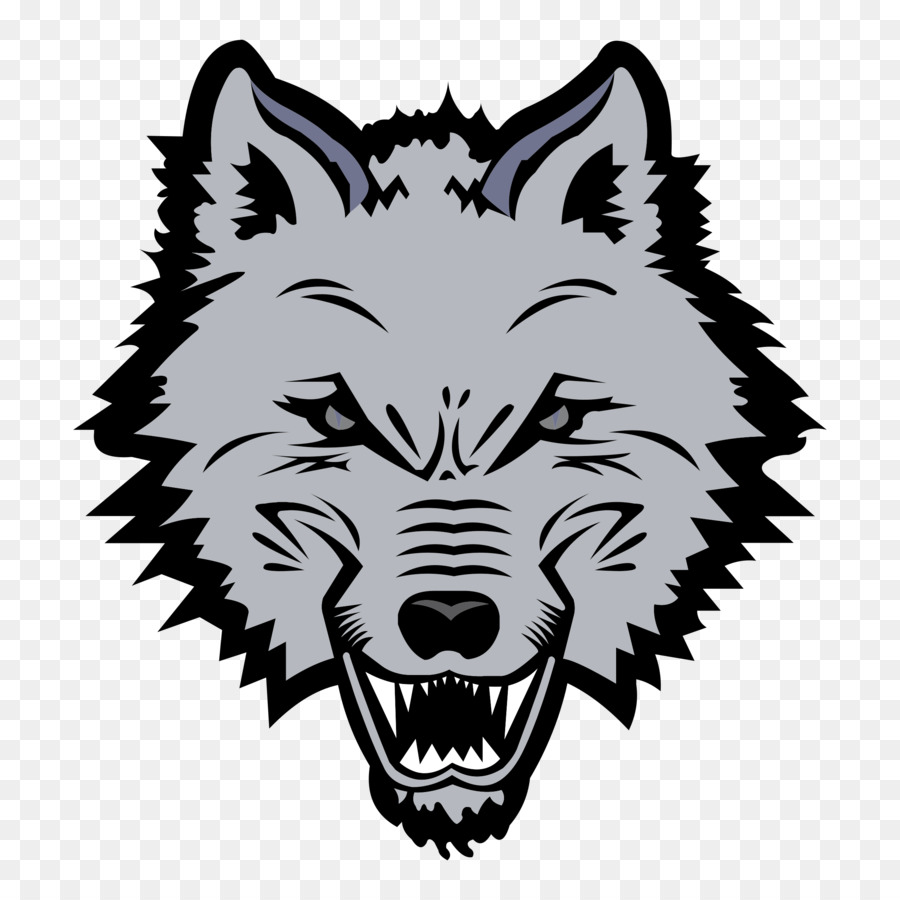 Wolf Drawing png download.