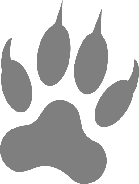 Gray Wolf Print Clip Art at Clker.com.