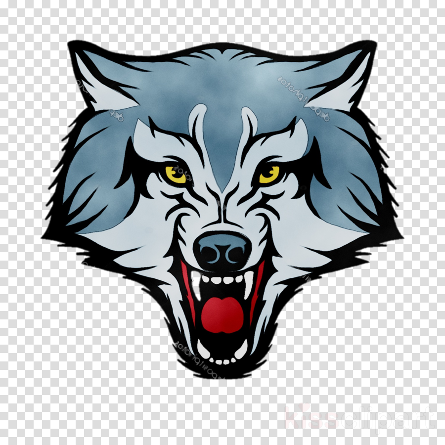 Wolf Logo clipart.