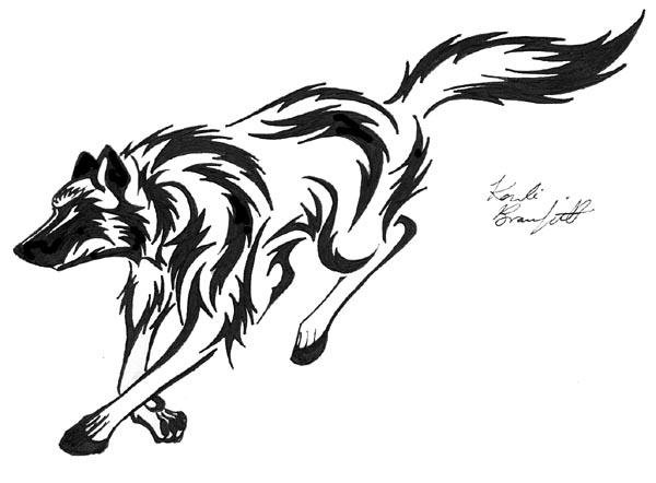 Free Running Wolf Tattoo, Download Free Clip Art, Free Clip.