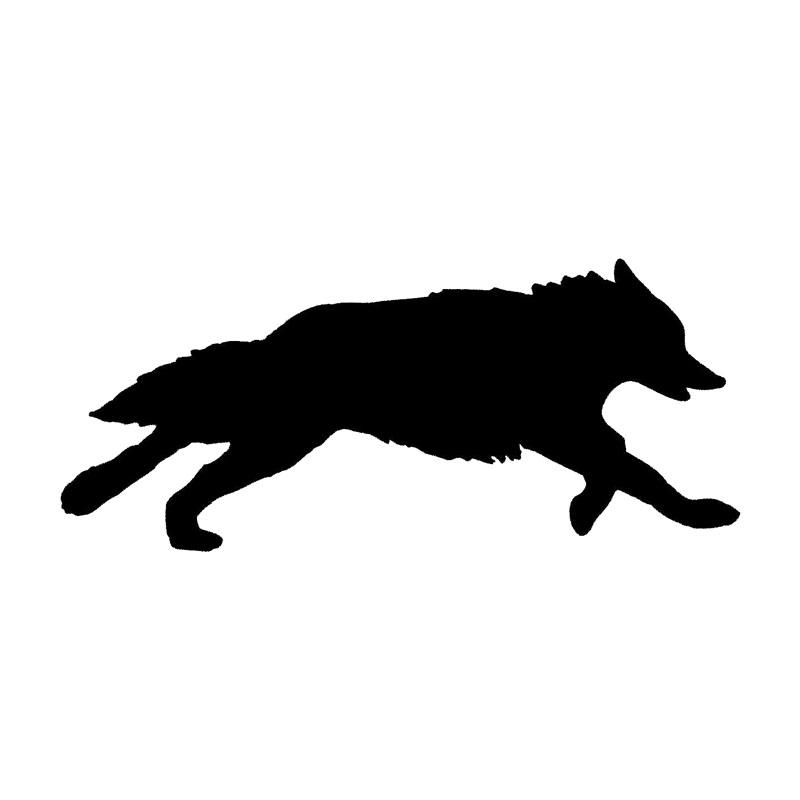 Silhouette Wolf Running.
