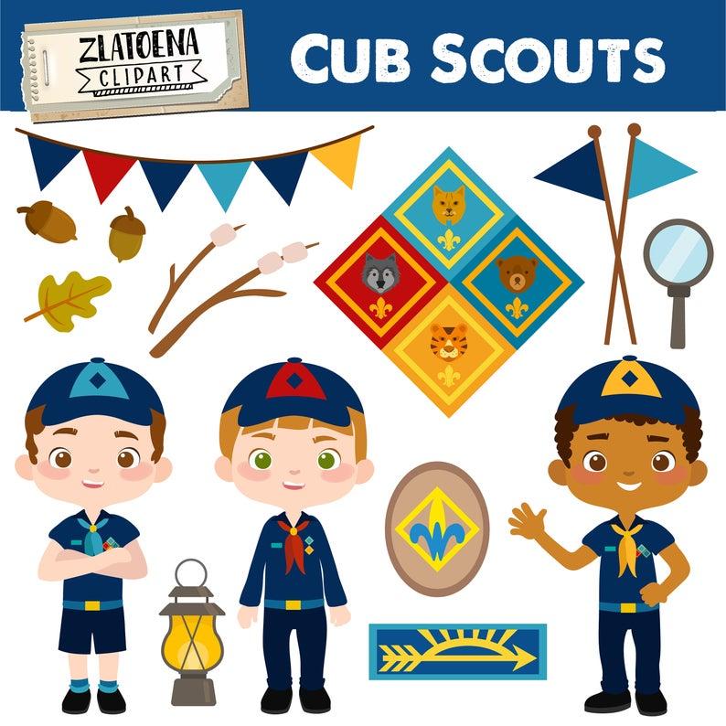 Cub Scout Clipart Scout Boy Clip art Camping Digital Kids Camping Printable  art Explorer Clip art Boys Scouts Troop Camping.