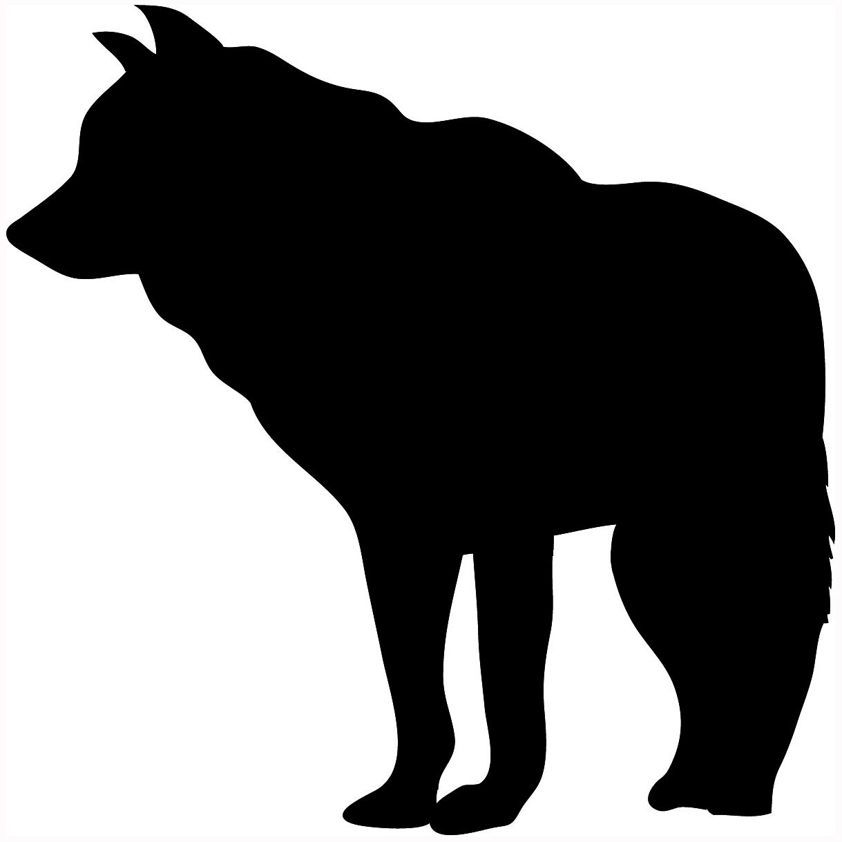 Wolf silhouette..