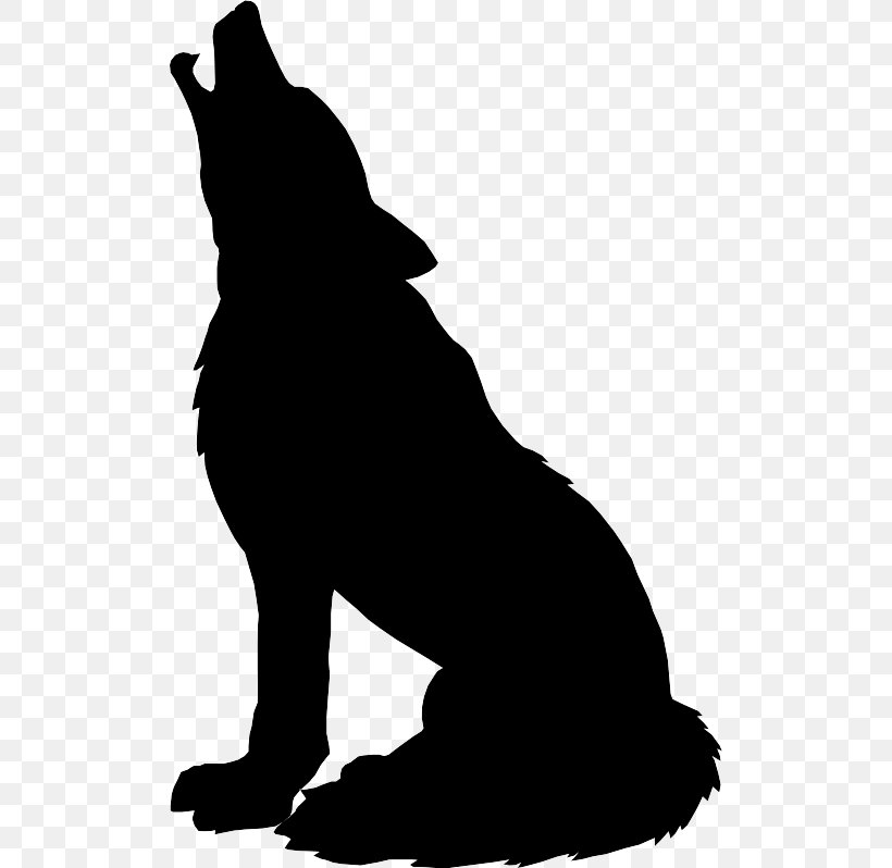 Gray Wolf Silhouette Drawing Clip Art, PNG, 508x798px, Gray.