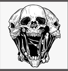 Wolf Skull Logo Vector Images (60).