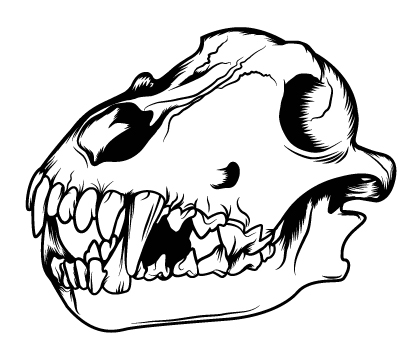 How to Create a Three Color Wolf Skull in Illustrator.