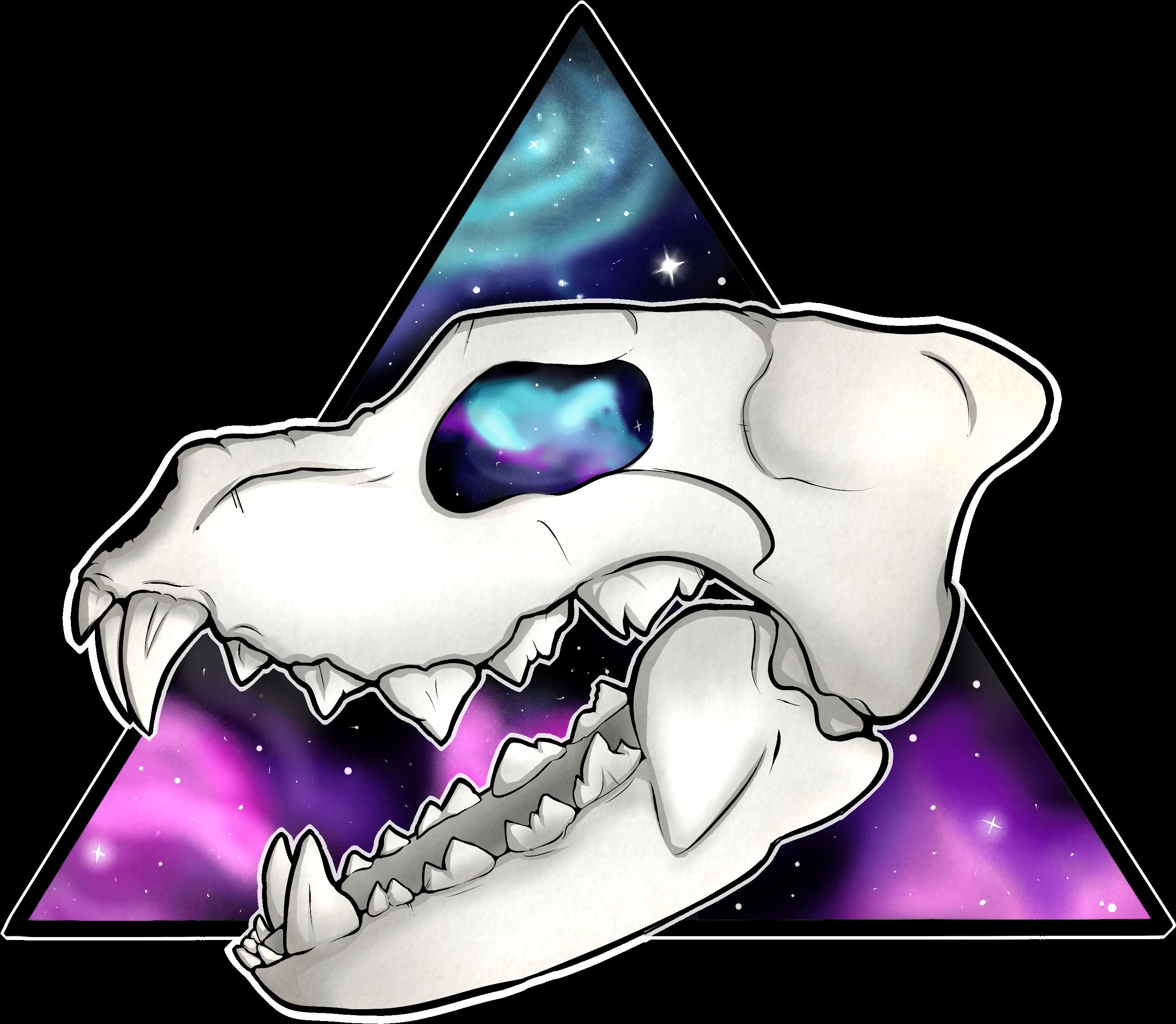 Galaxy Wolf Skull.