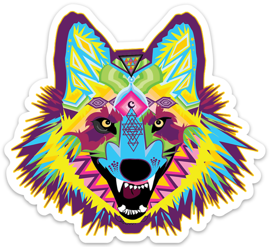 Alpha Wolf Vinyl Sticker.