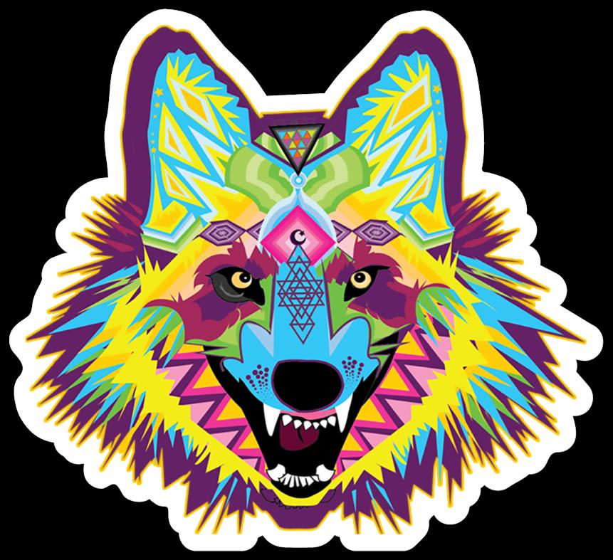 Alpha Wolf Vinyl Sticker.