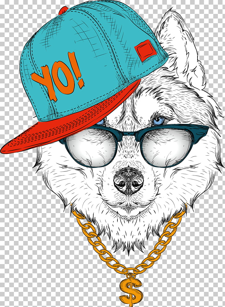 Siberian Husky Drawing Illustration, Pop music, illustration.