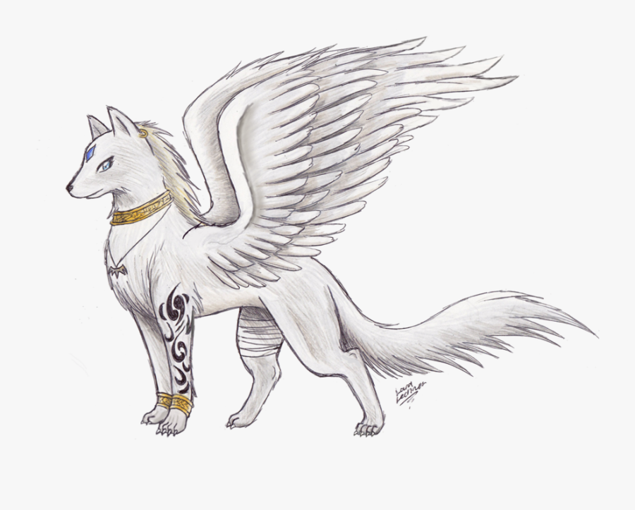 Clip Art Wolf With Wings Awesome.