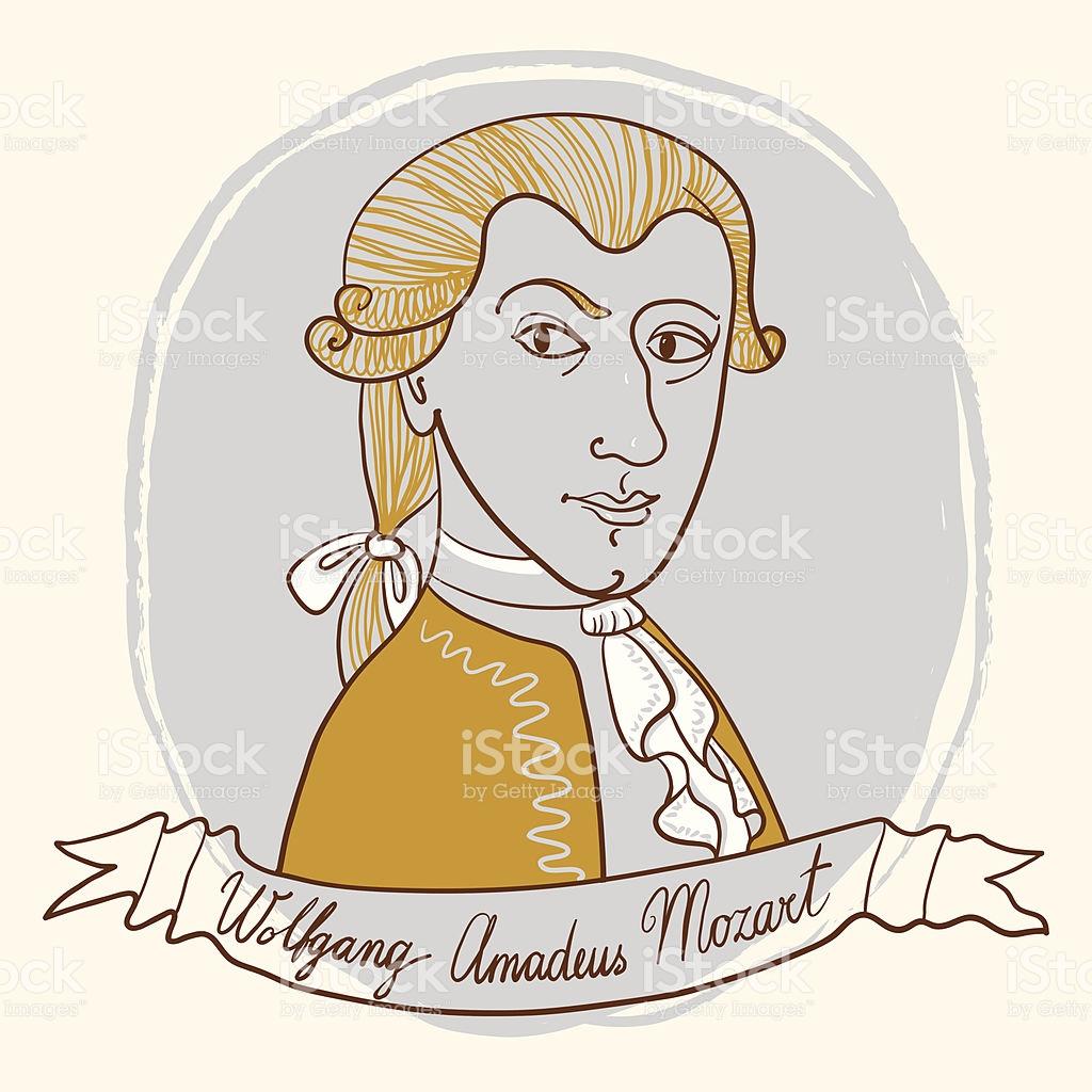 Wolfgang Amadeus Mozart stock vector art 157179119.