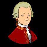 Mozart clipart.
