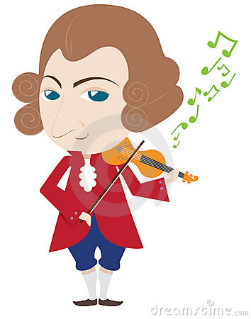 Mozart Stock Illustrations.