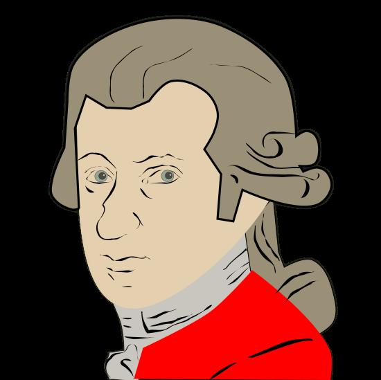 Free Mozart Clip Art.