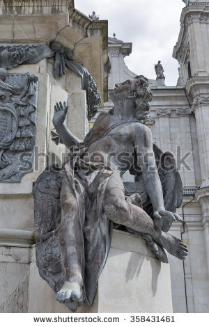 Statue Hungarian Tribe Chieftain Arpad Heroes Stock Photo.