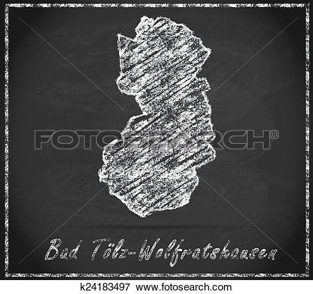 Stock Illustration of Map of Bad Toelz Wolfratshausen k24183497.
