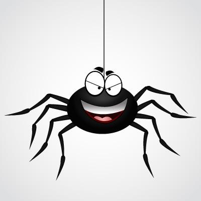 Spider Clip Art, Vector Spider.