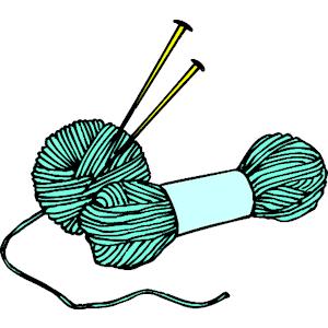 Knitting Needles Clipart.
