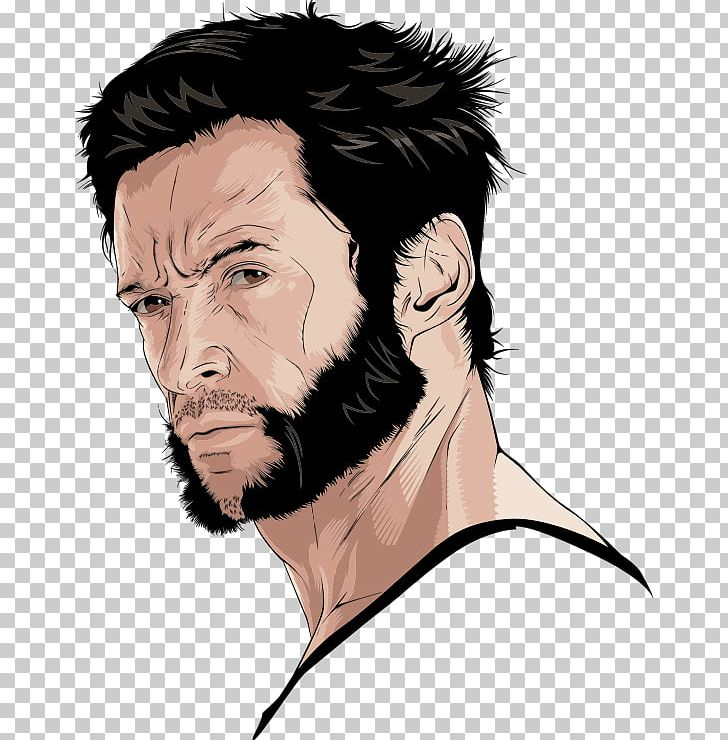 Wolverine Hugh Jackman Logan PNG, Clipart, Art, Beard, Black.