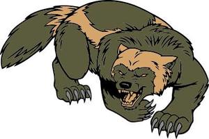 Free Wolverine Mascot Clipart.