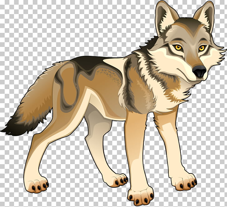 Gray wolf Cartoon Stock illustration Illustration, Prairie.