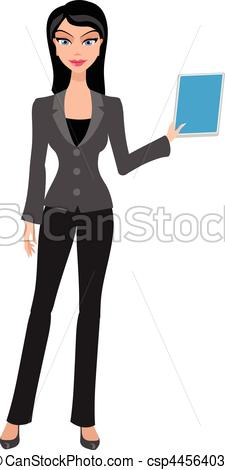 business woman, girl with tablet.