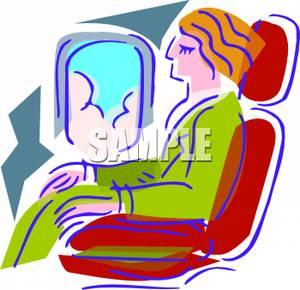 Passengers On A Plane Clipart.
