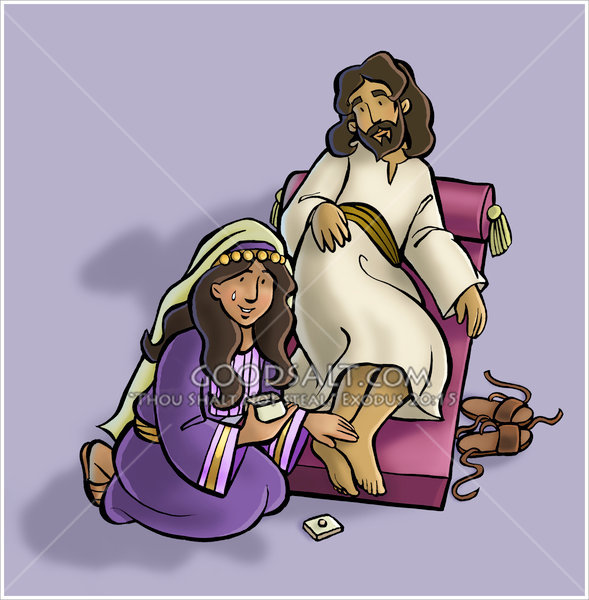 Mary Anoints Jesus Feet.