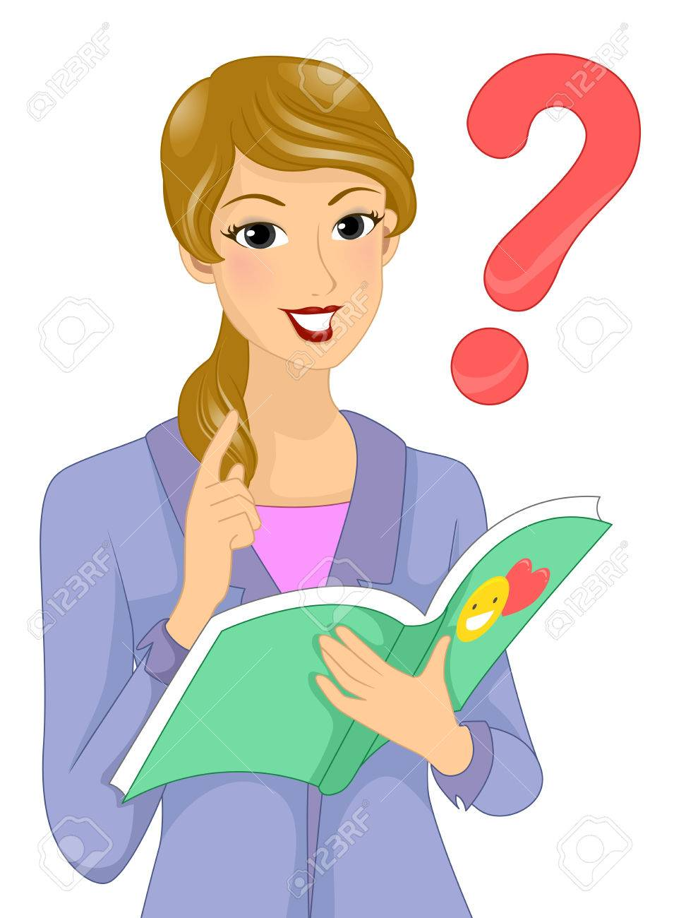 Someone Asking A Question Clipart.