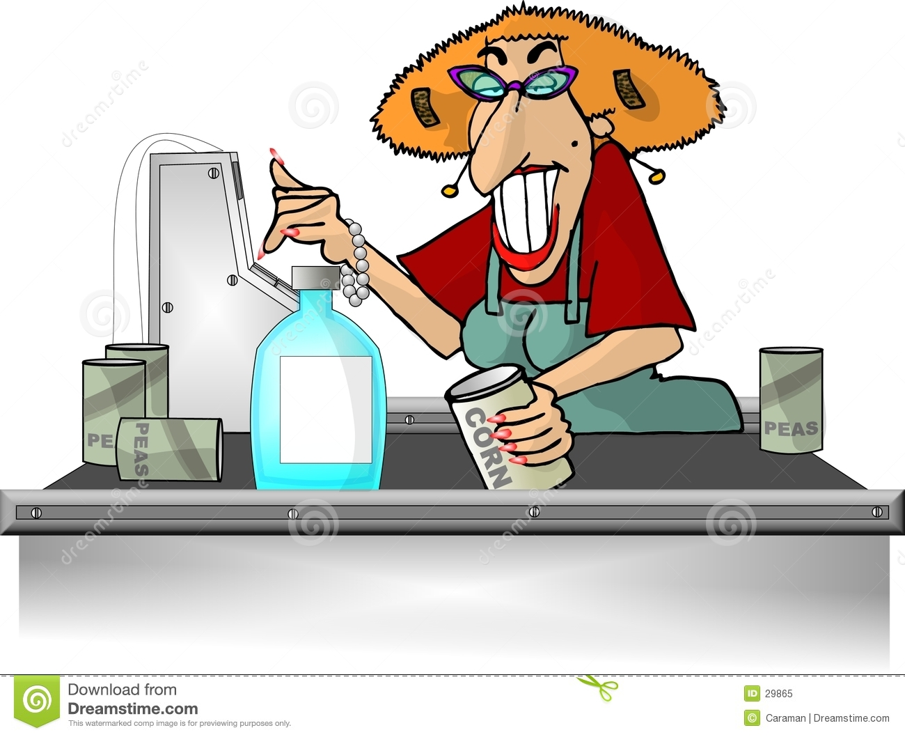 Grocery Store Checkout Counter Clipart.