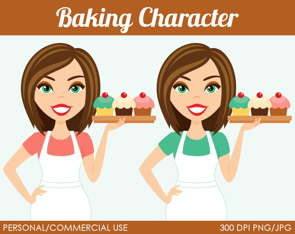 woman baker christmas clipart 20 free cliparts